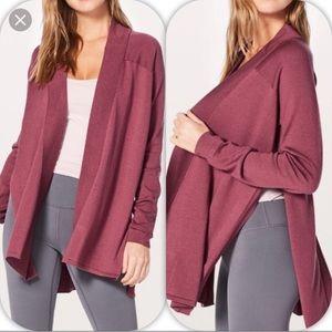 EUC Blissful Zen Sweater in So Merlot Color
